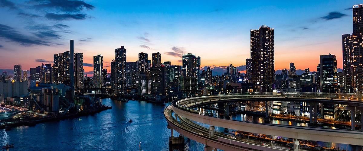 la città di Tokyo, capitale del Giappone