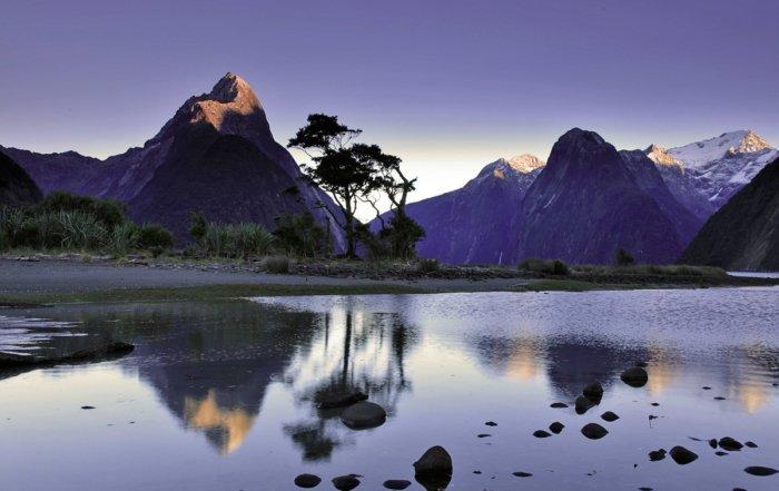 Nuova Zelanda al tramonto